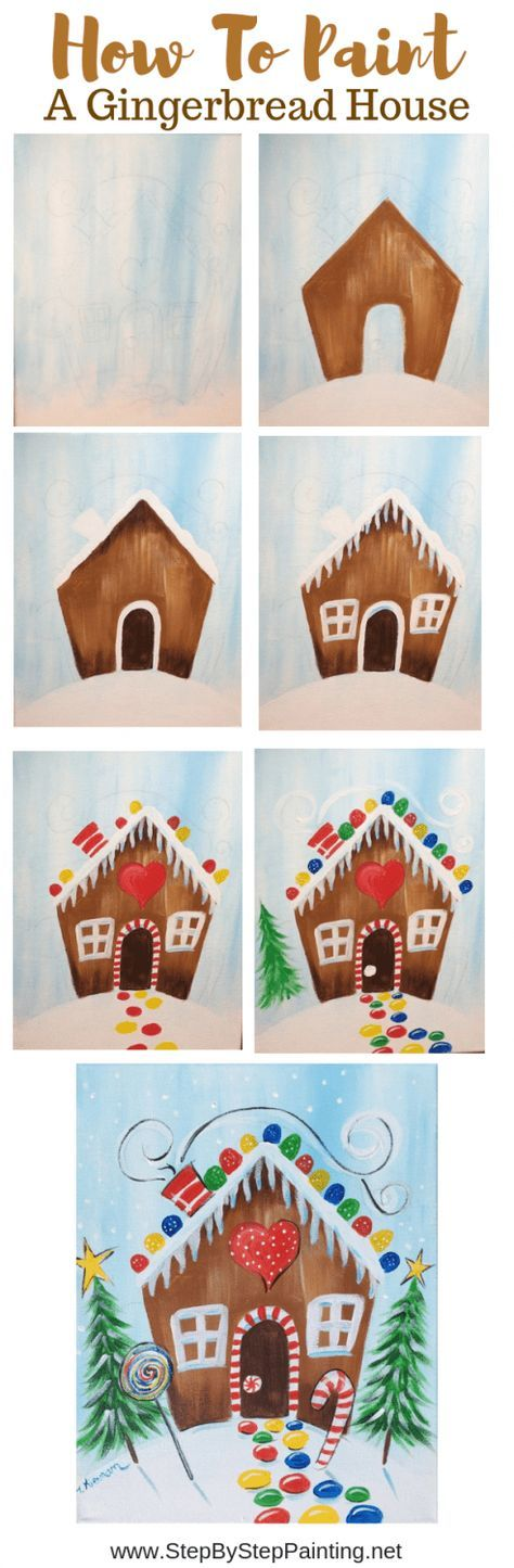 How To Paint A Gingerbread House – Step By Step Painting