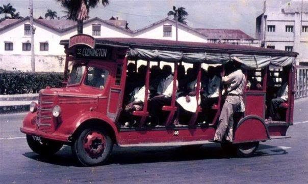 Old Time Bus Circa 1950 S In Barbados Note The Rolled Up