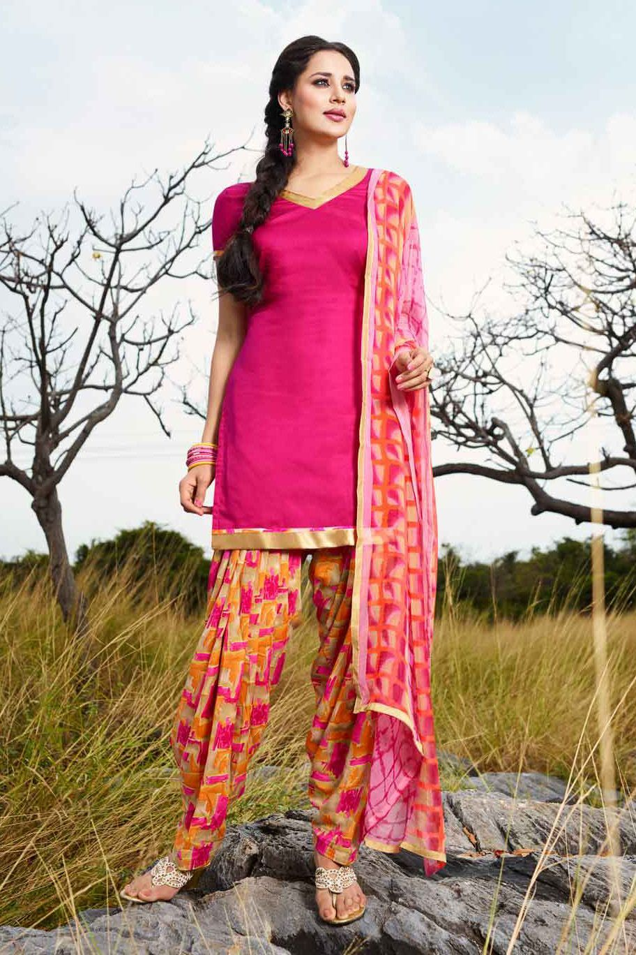 3082aba889 This Exclusive Patiala Suit Is An Ultimate Casual Wear Collection With The  Mesmerizing Colours Of Pink With The Artistic Printed , Leave No Stone  Unturned ...