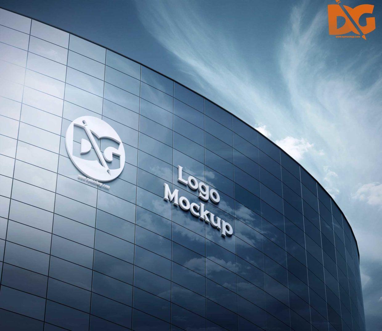 Building 3D Logo Free logo mockup, Logo mockups psd