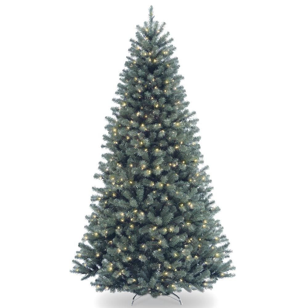 National Tree Company 9 Ft North Valley Blue Spruce Artificial Christmas Tree With Clear Lights Nrvb7 306 90 The Home Depot In 2020 Pre Lit Christmas Tree Best Artificial Christmas Trees Spruce Christmas Tree