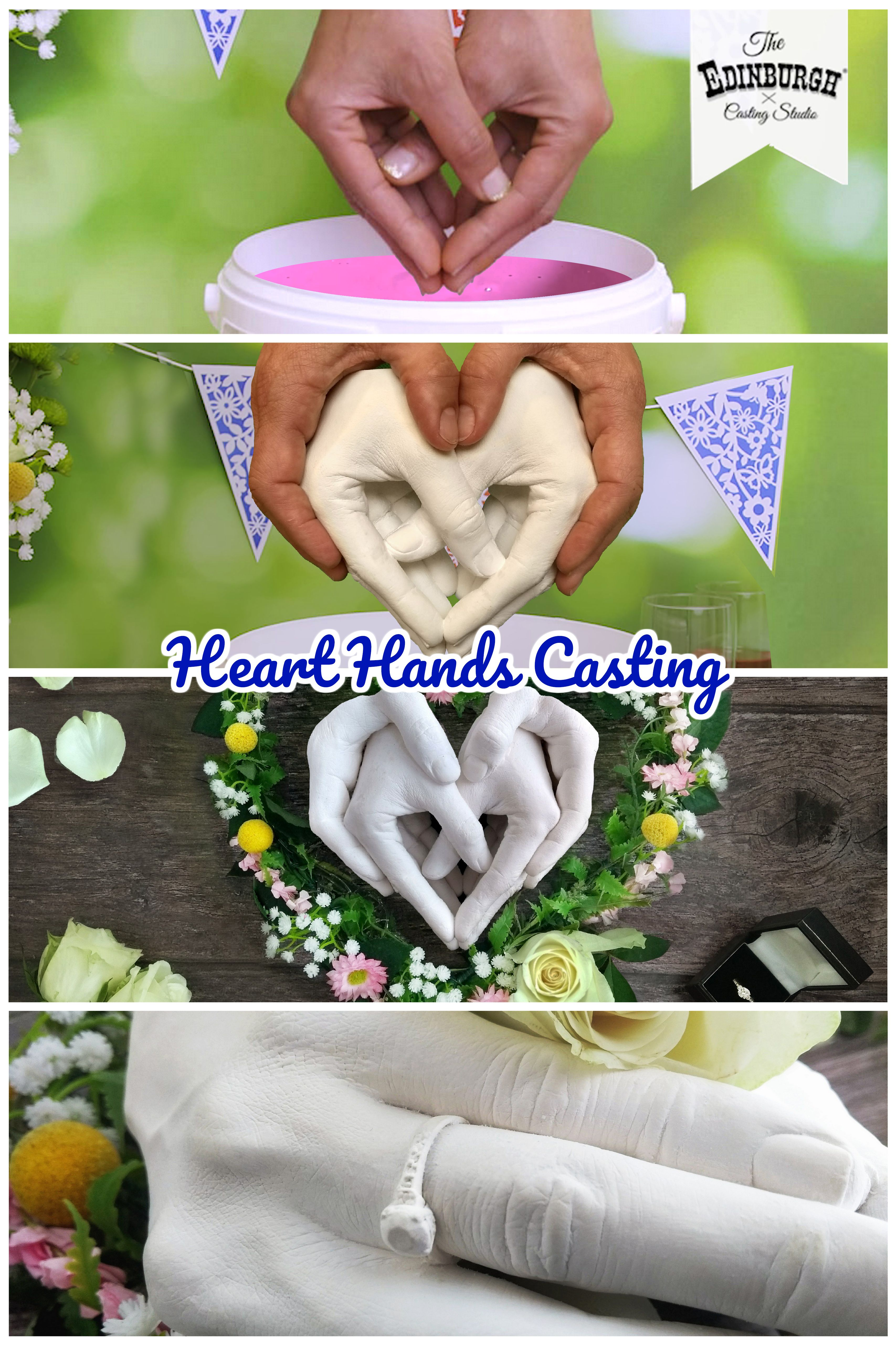 Make This Heart Hands Casting Using Our Family Refill Casting Kit Two Sets Of Hands Together Forever Wrapped In Love Casting Kit Diy Plaster Hand Molding