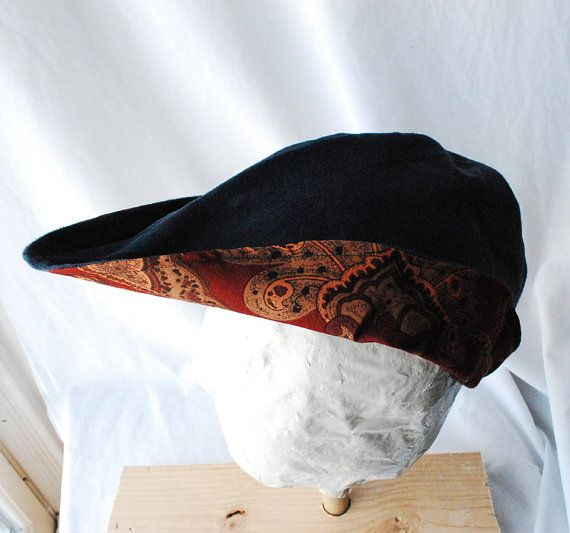 5715296bd22 Modified Robin Hood hat - Black and Rust