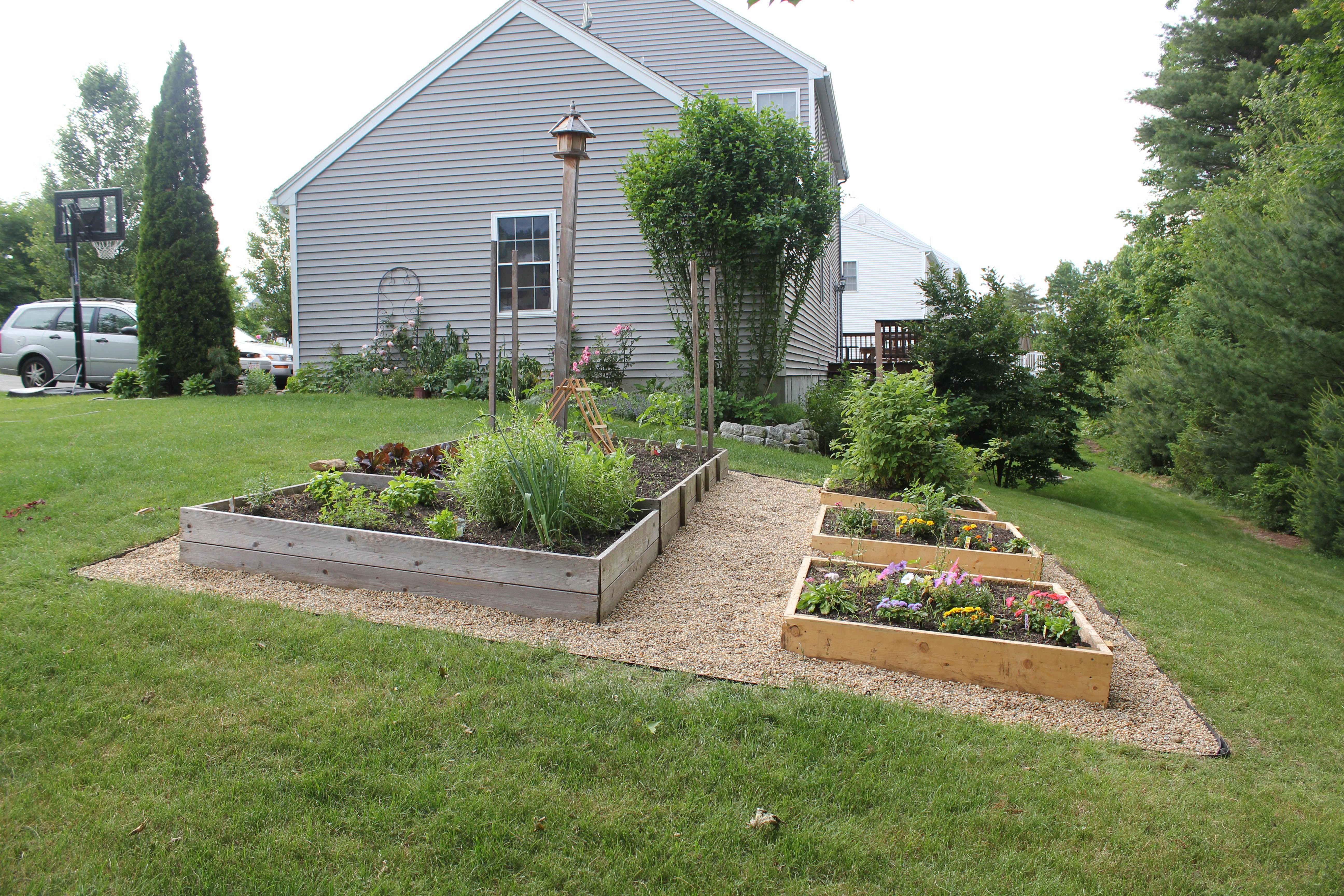 Gardening on a slope. Sloped garden, Building raised