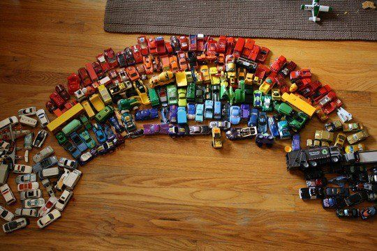 oooh...a car rainbow!!