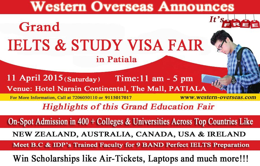Grand Ielts Study Visa Fair By Western Overseas Golden Opportunity To Study In Australia Nz Canada Usa Cyp Scholarships For College Education Fair Ielts