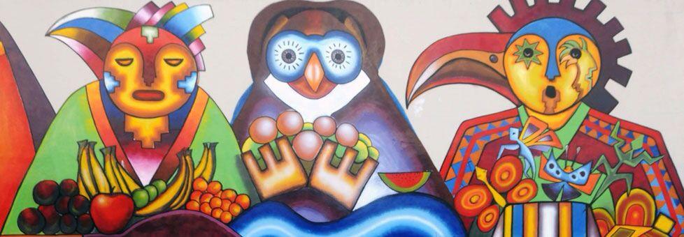 Pinturas de Mamani Mamani pintor boliviano