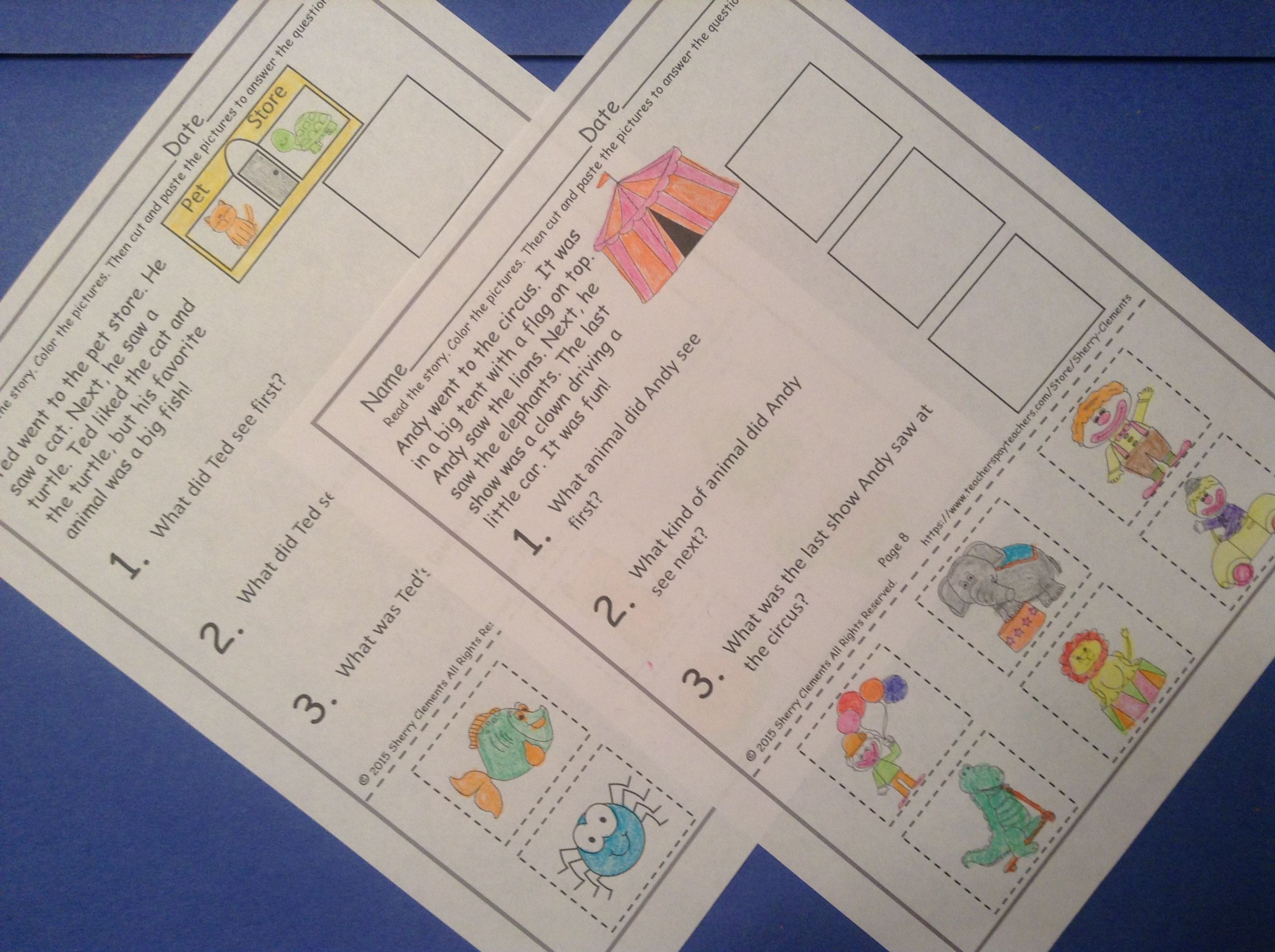 Reading Comprehension Passages And Questions With Images