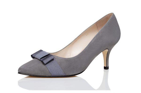 Grey Wide Fit Shoes   Heels
