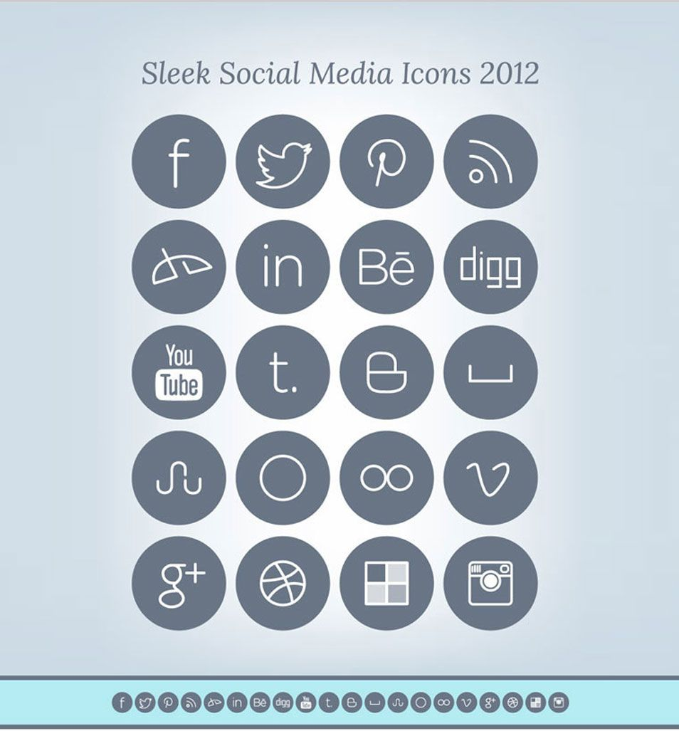 100 Free Resume Builder 100 Free Social Media Icon Sets For Designers  Free Social Media