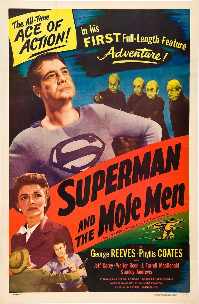1951 - Movie poster - Superman and the Mole Men