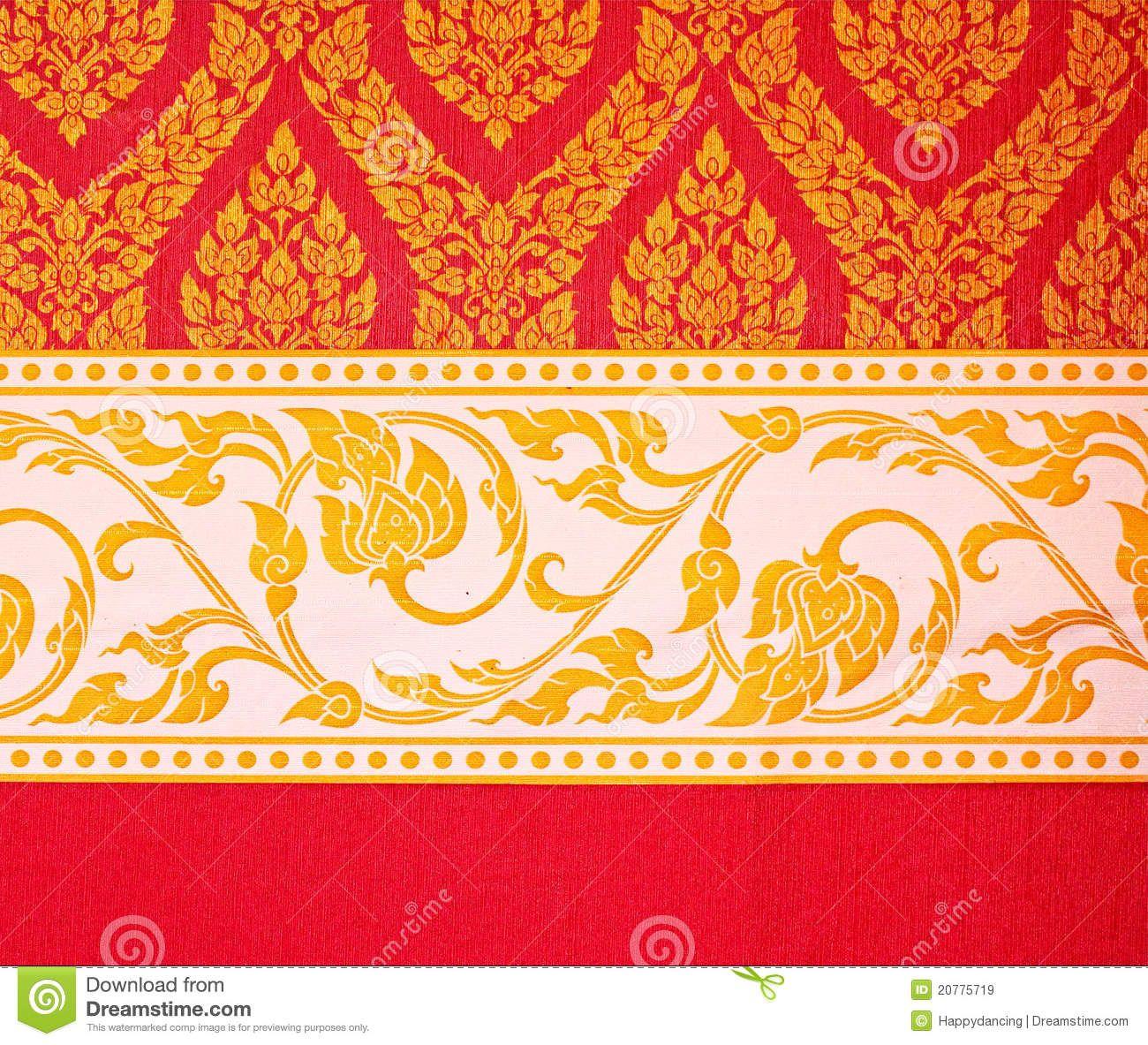 Free Patterns Wall Art | Thai Art Wall Pattern Royalty Free Stock ...