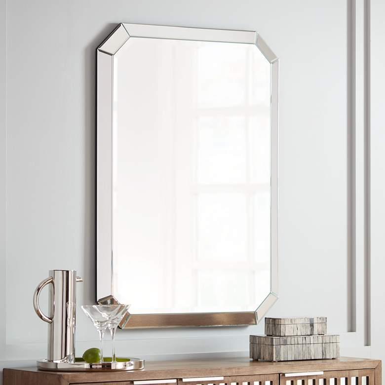 Mirror S Edge 28 X 40 Rectangular Wall Mirror 15e22 Lamps Plus Mirror Wall Bedroom Mirror Wall Bathroom Mirror Decor #rectangular #wall #mirror #for #living #room