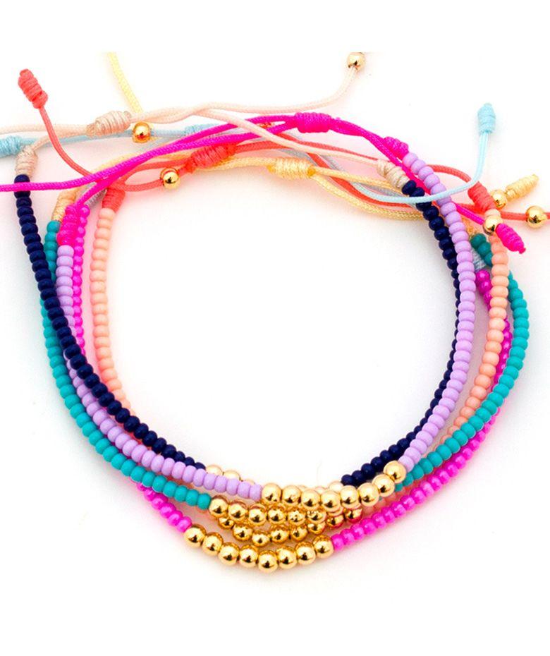 8af6c4d8de31 Regalos que encantan: Pulsera Chaquiras Multicolor con Balines ...
