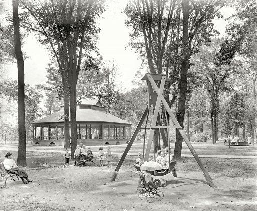 Clark Park 1900 Detroit Shorpy Historical Photos Detroit History