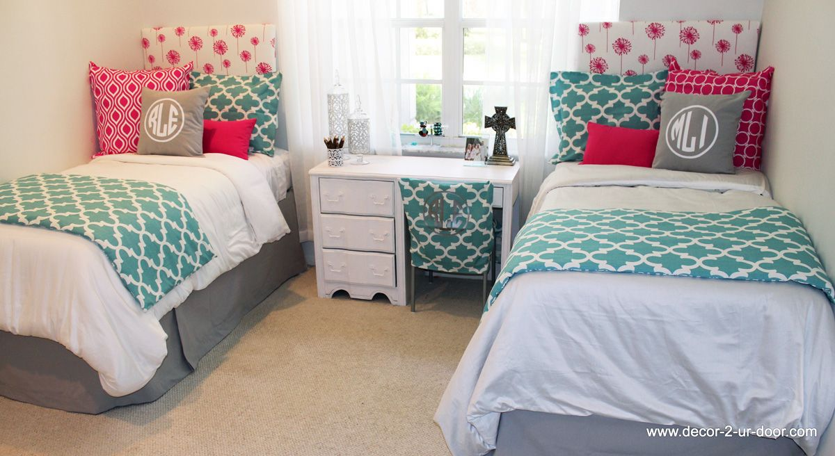 Pink spirit blue and grey design ur own coordinating dorm designer