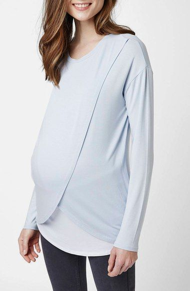 09e0f4c8d1980 Topshop Long Sleeve Maternity/Nursing Top available at #Nordstrom ...