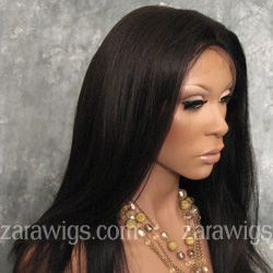 Virgin Indian Remy Silky Texture Full Lace Wig- Hidden Knots & Silk Top Natural Color