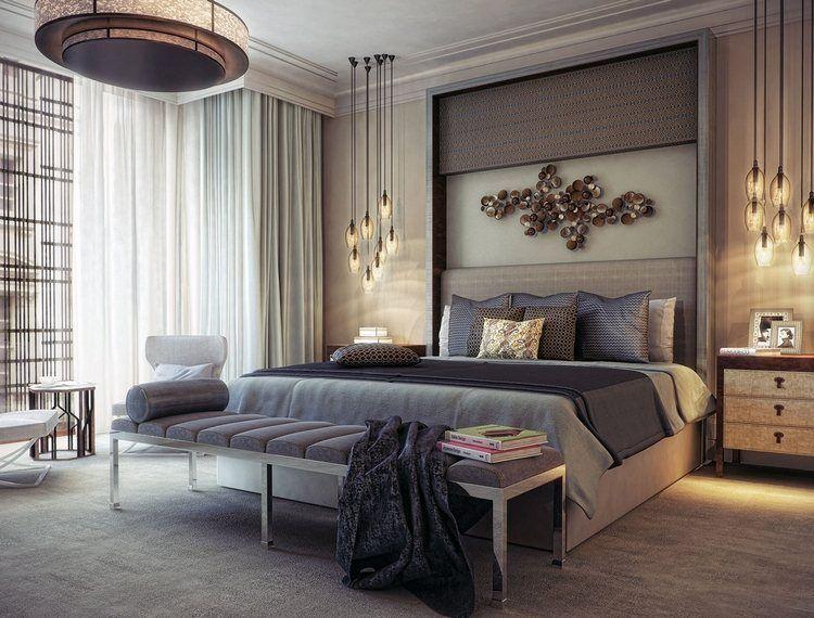 Chambre adulte moderne - idées de design et décoration Chambre