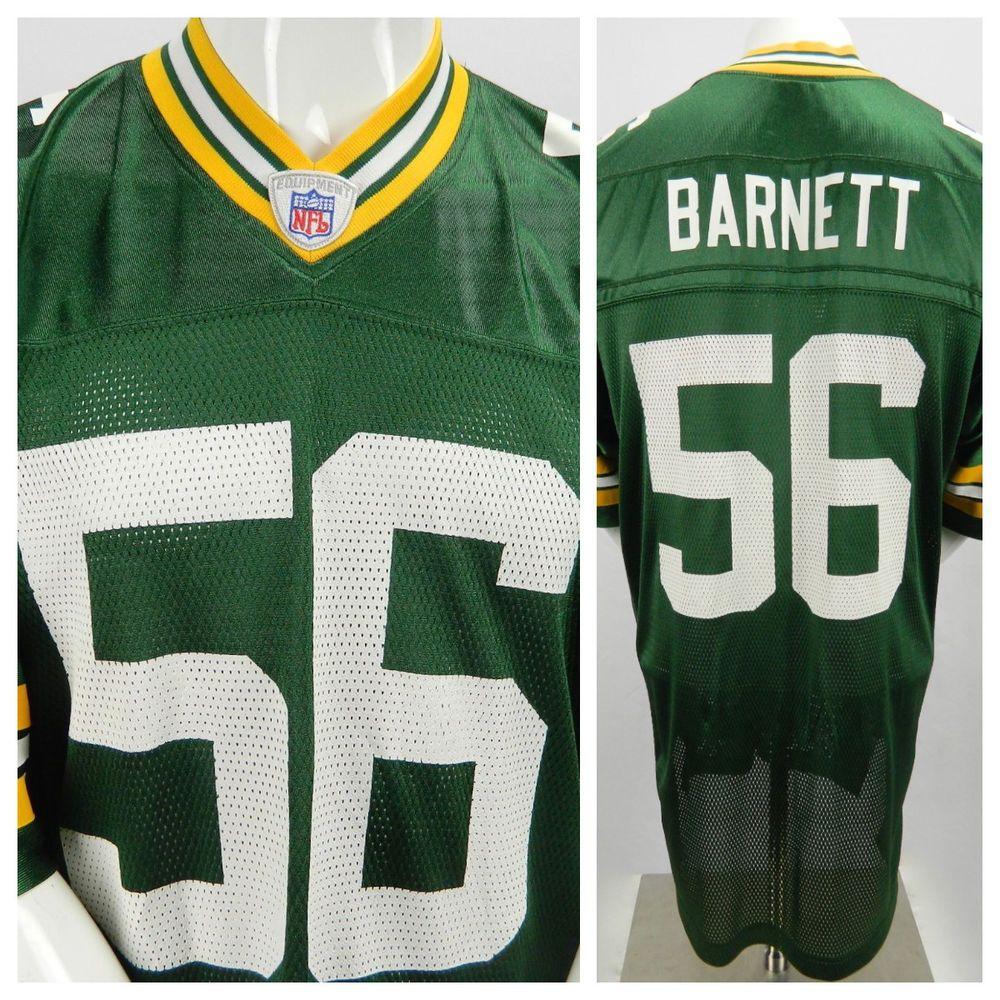 Reebok On Field Nfl Green Bay Packers 56 Nick Barnett Football Jersey Large L Reebok Greenbaypackers Nfl Green Bay Packers Packers