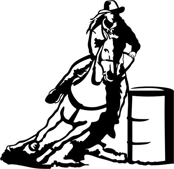 horse racing clip art free cliparts co horse clip art rh pinterest co uk barrel racing clip art free Barrel Racing Silhouette