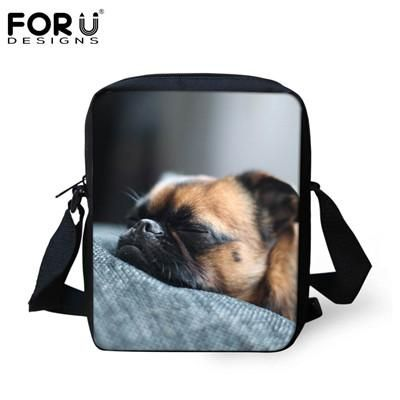 Multi Colored Animal Women Messenger Bag Cute Cat Dog Head Cross-body Bags For Lady Zoo Small Travel Shoulder Bag Mochila Bolsas