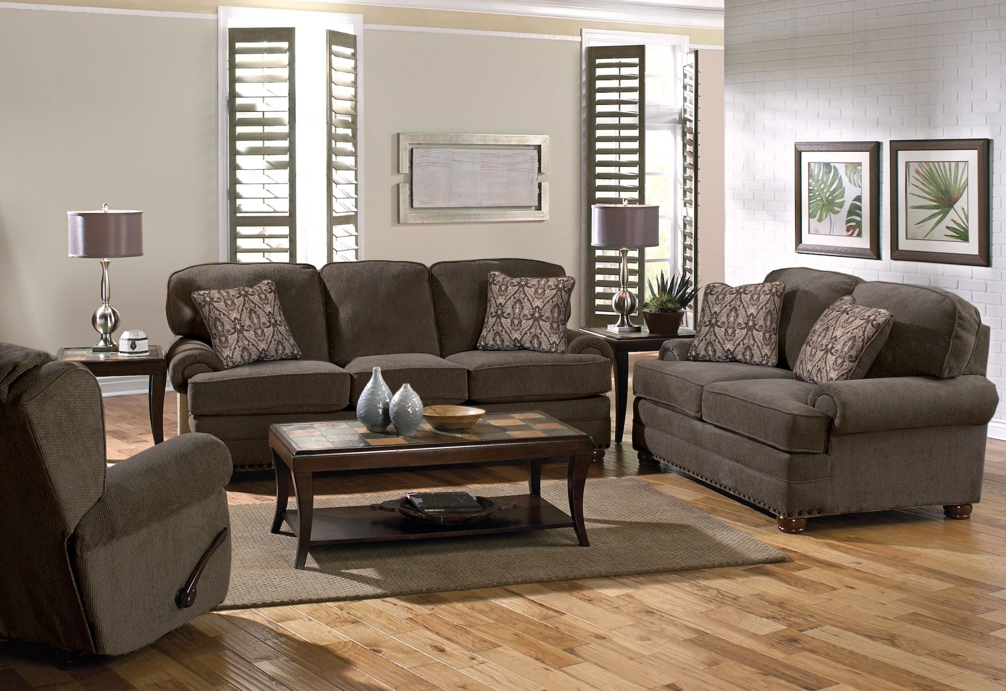 Braddock Metal Living Room Set 3 Piece Living Room Set Living