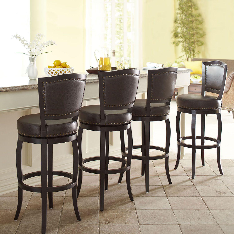 Billings brown swivel counter bar stool
