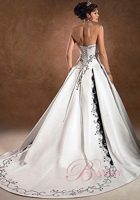 vestido de novia con flores negras – vestidos largos