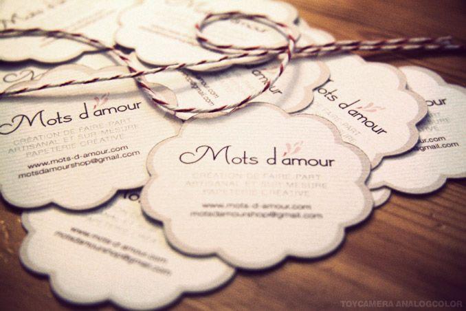 Carte De Visite Mots Damour