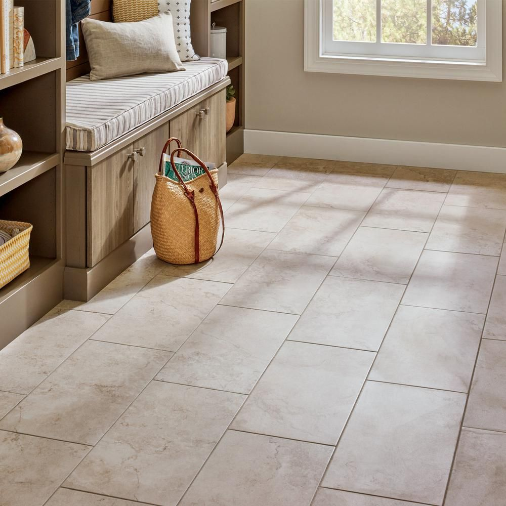 Lifeproof Limestone 12 In X 24 In Glazed Porcelain Floor And Wall Tile 15 6 Sq Ft Case Lp521224hd1p6 T Flooring Porcelain Flooring Limestone Flooring