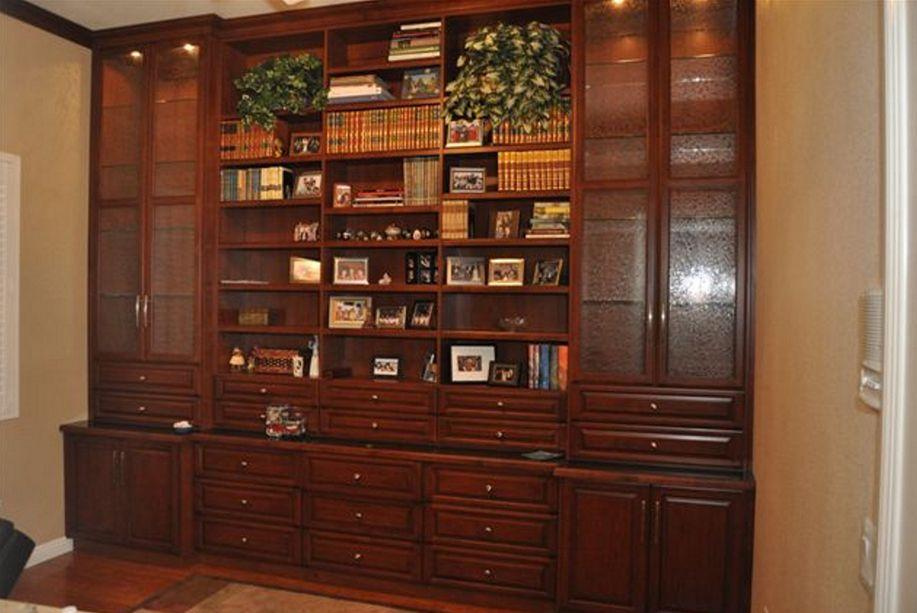Mahogany Media With Glass Inset Doors  Custom Home Media Center Designs   Classy  Closets