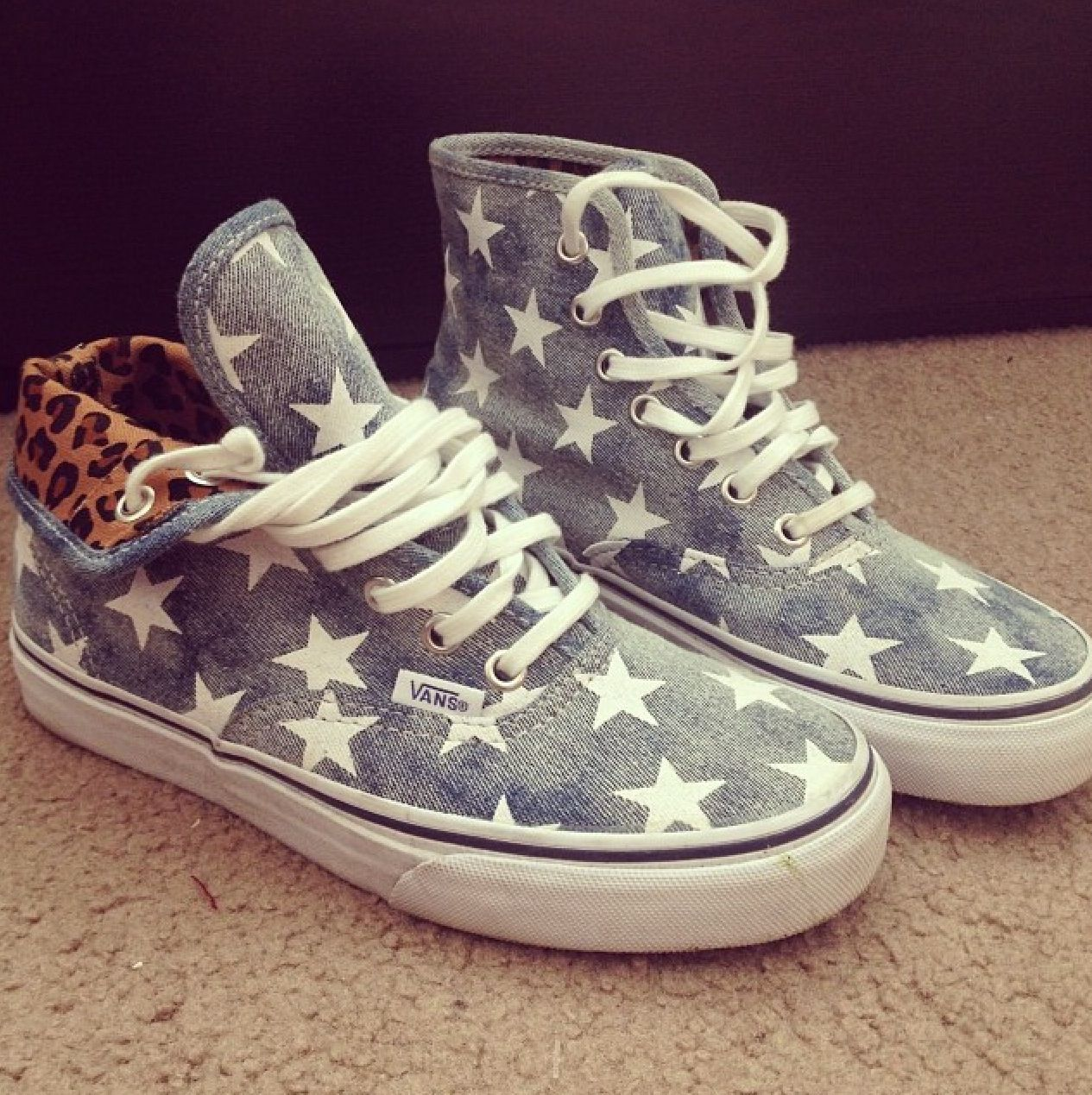 Glass High Top Shoes