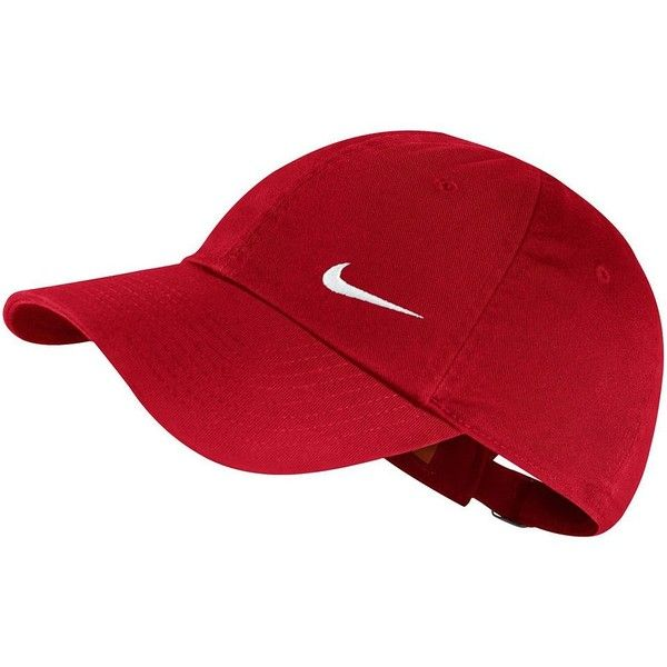 Nike Heritage Performance Cap featuring polyvore, women's fashion,  accessories, hats, dark pink