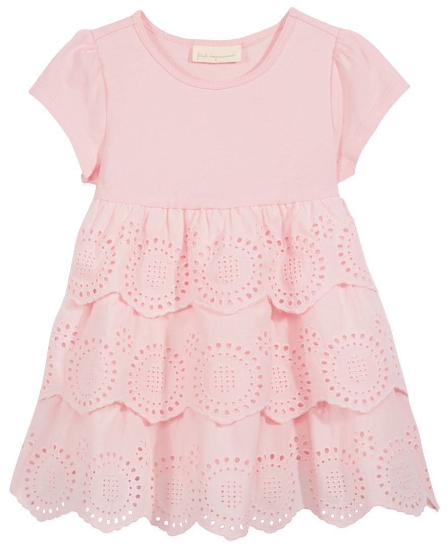 2094fd6e6d34 First Impressions Tiered Eyelet Dress