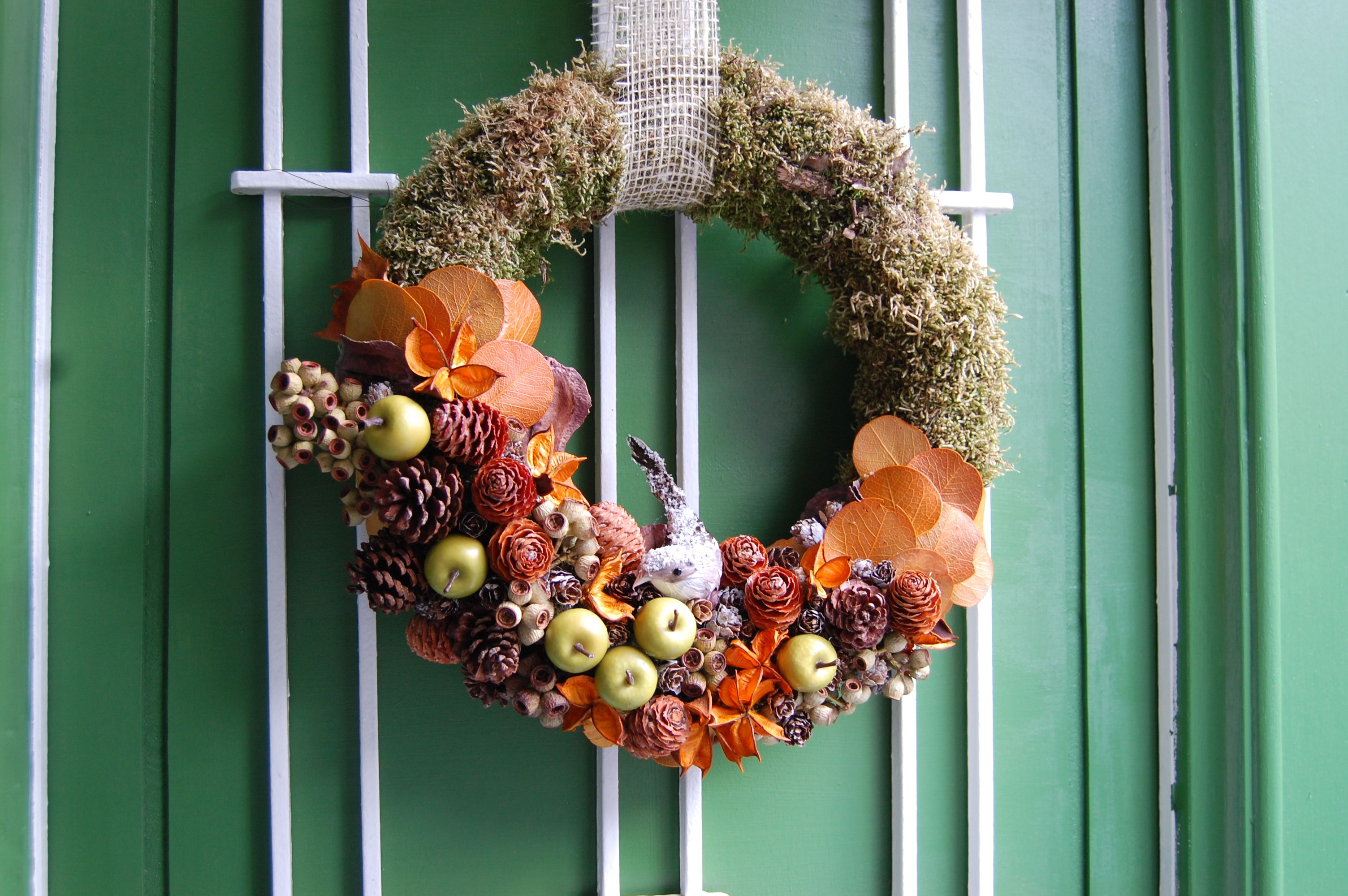 Fall decoration door wreath DIY