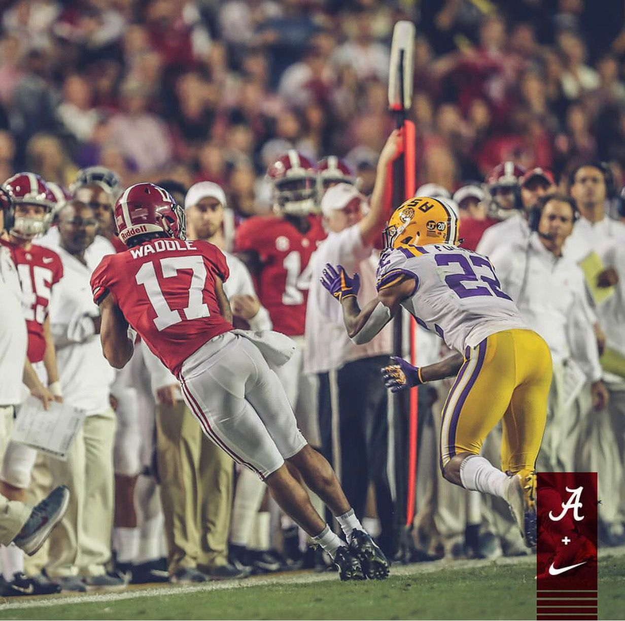 Jaylen Waddle Alabama 29 Lsu 0 Alabama Rolltide Bama Builtbybama Rtr Crimsontide Rammerjamm Crimson Tide Football Alabama Crimson Tide Bama Football