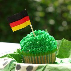 Der perfekte Muffin für eine WM Party oder einen Fußball Geburtstag. Das Rezept gibt es auf: www.kinderparty-portal.de