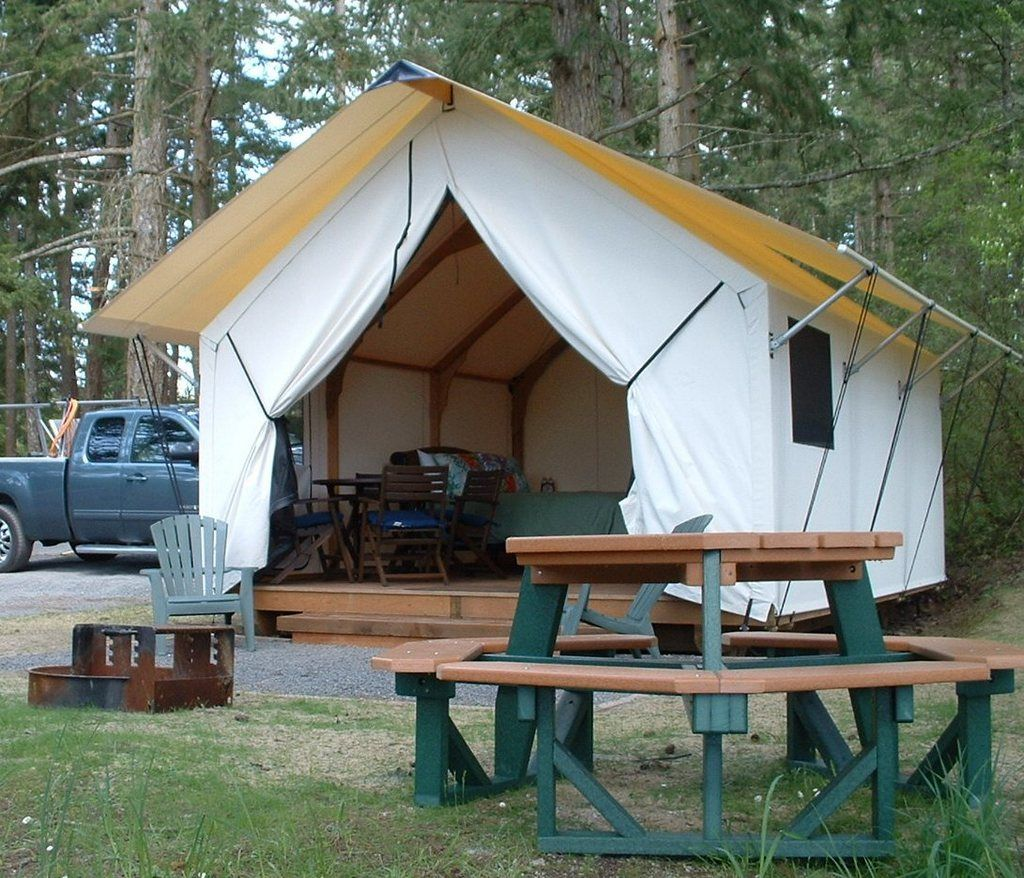 The canvas cottage rainier yurts pinterest for Tent cottage