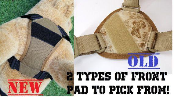Dog Backpack Heavy Duty Harness Service Dog Vest Tactical Military Cargo Vest Black Large Breed Mia K9 Trekking Gear Dog Vest Service Dog Vests Dog Backpack