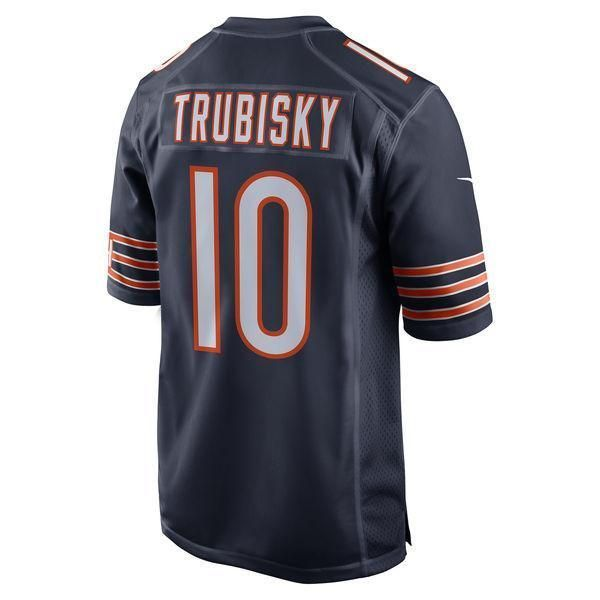 Men s Chicago Bears Mitchell Trubisky Nike Navy Vapor Untouchable Limited  Player Jersey 927643f43