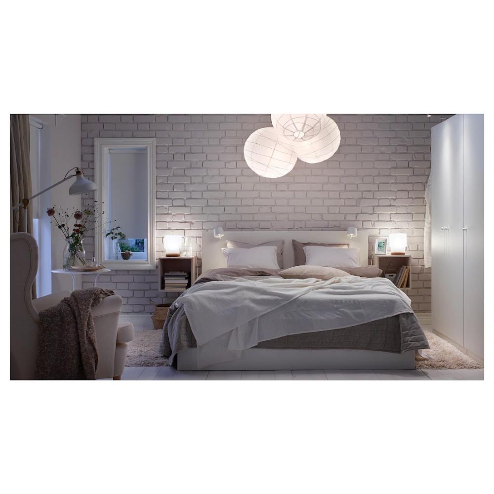 Malm Bed Frame High W 4 Storage Boxes White Luroy 180x200 Cm