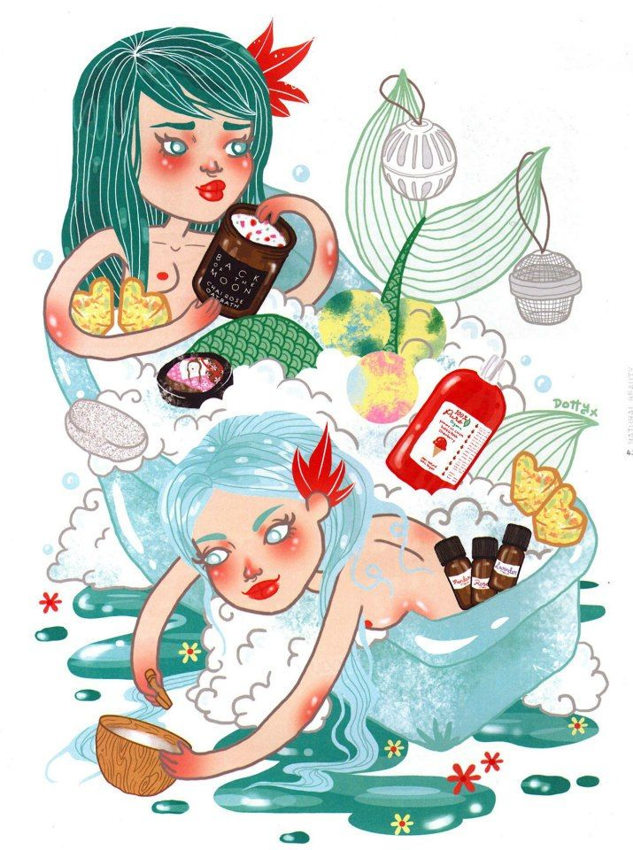 A mermaid drawing featuring Toxic Free Beauty Products