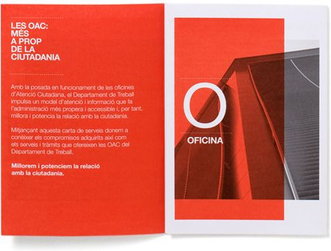 OAC Brochure for the Citizen Information Offices (OAC) Project - pamphlet layout