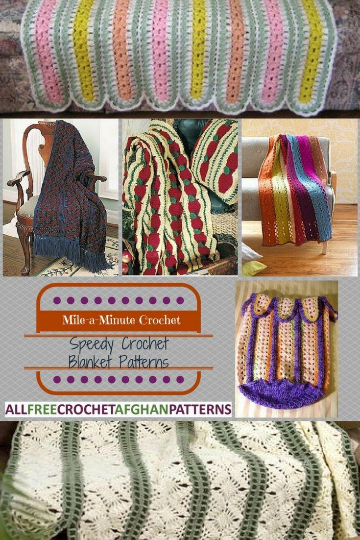Mile-a-Minute Crochet: 13 Speedy Crochet Blanket Patterns | Colchas ...