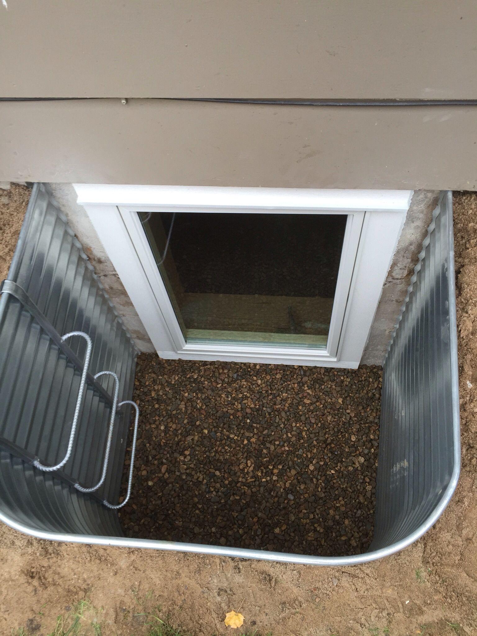 Egress window well ladder affordable egress windows for Cost to finish basement utah