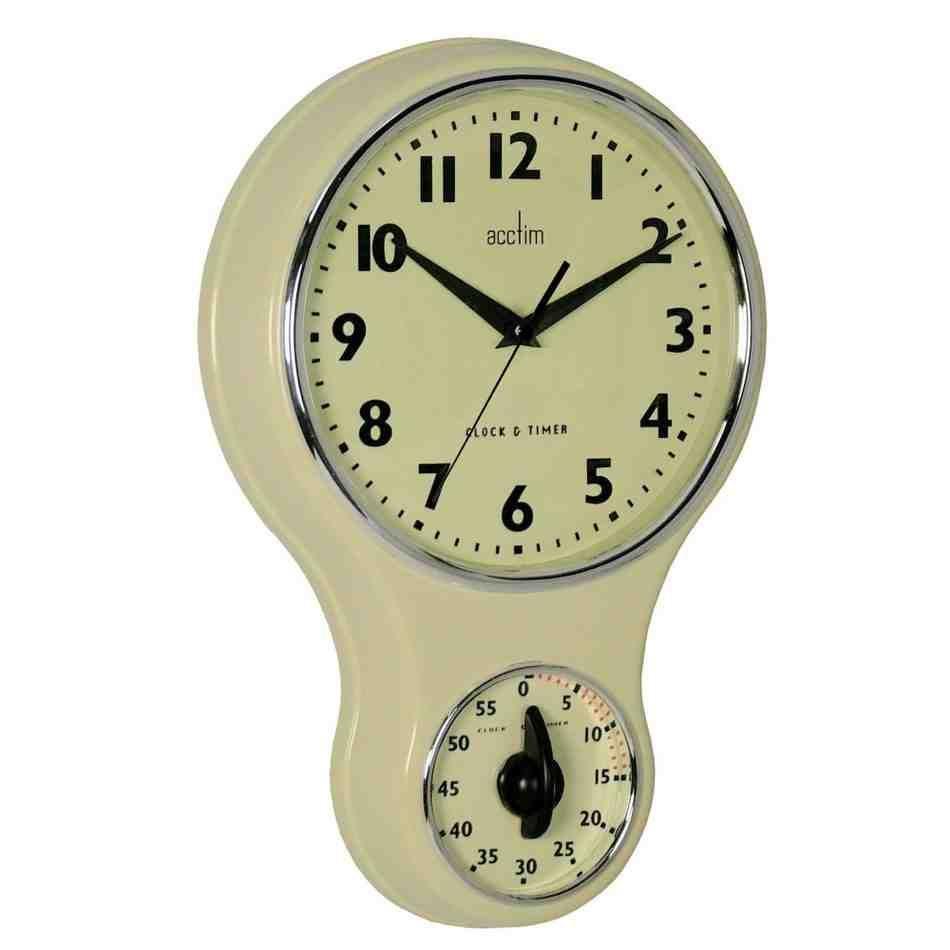 Retro Kitchen Wall Clock | kitchen wall clocks | Pinterest | Kitchen ...