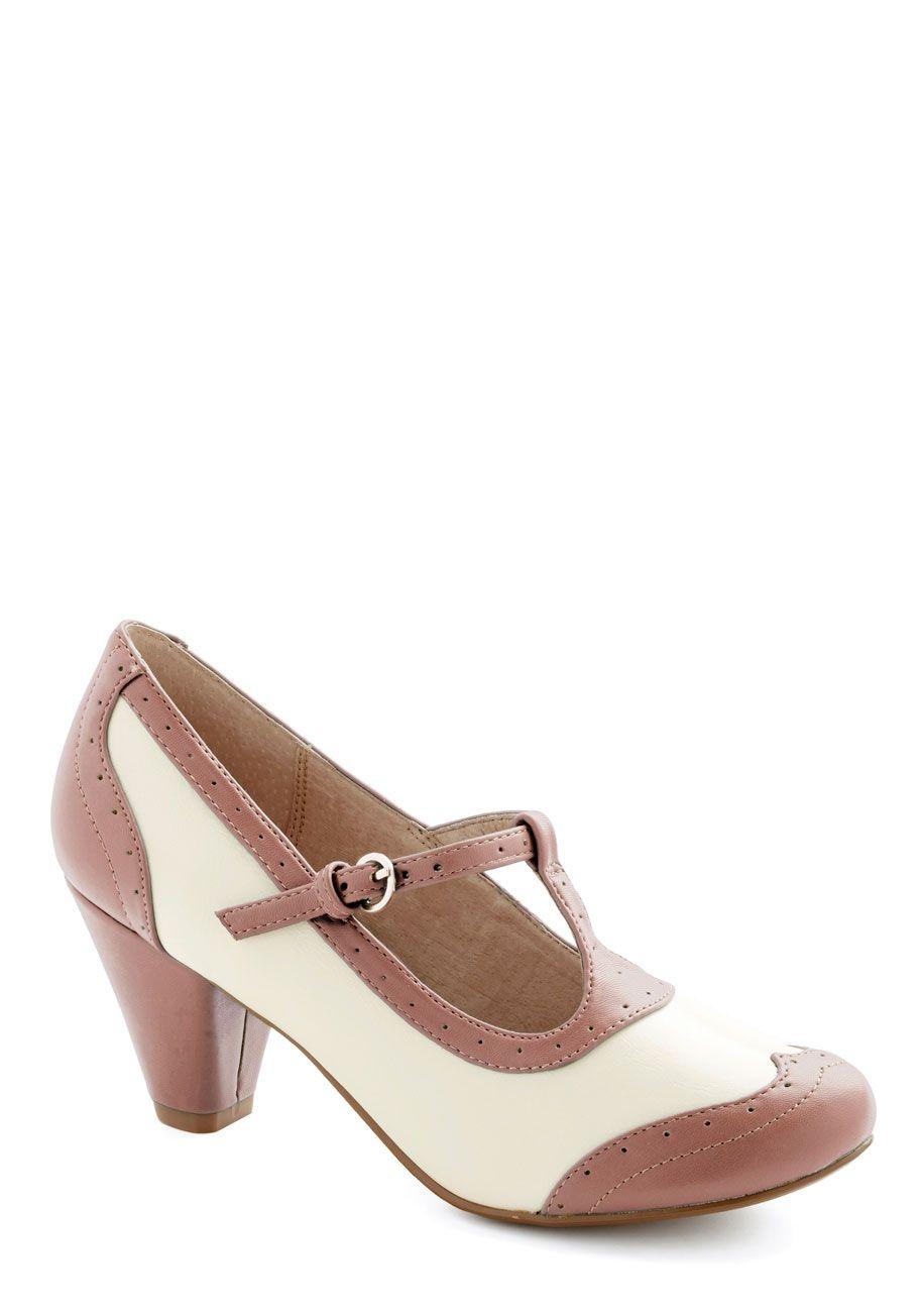 fecf59cb0db Shabby Chic Leather Heel   Wardrobe   Shoes, Vintage heels, Shoes heels