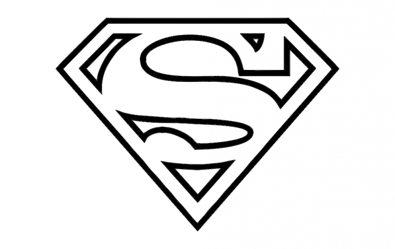 Super Man logo dxf File Superhero coloring pages