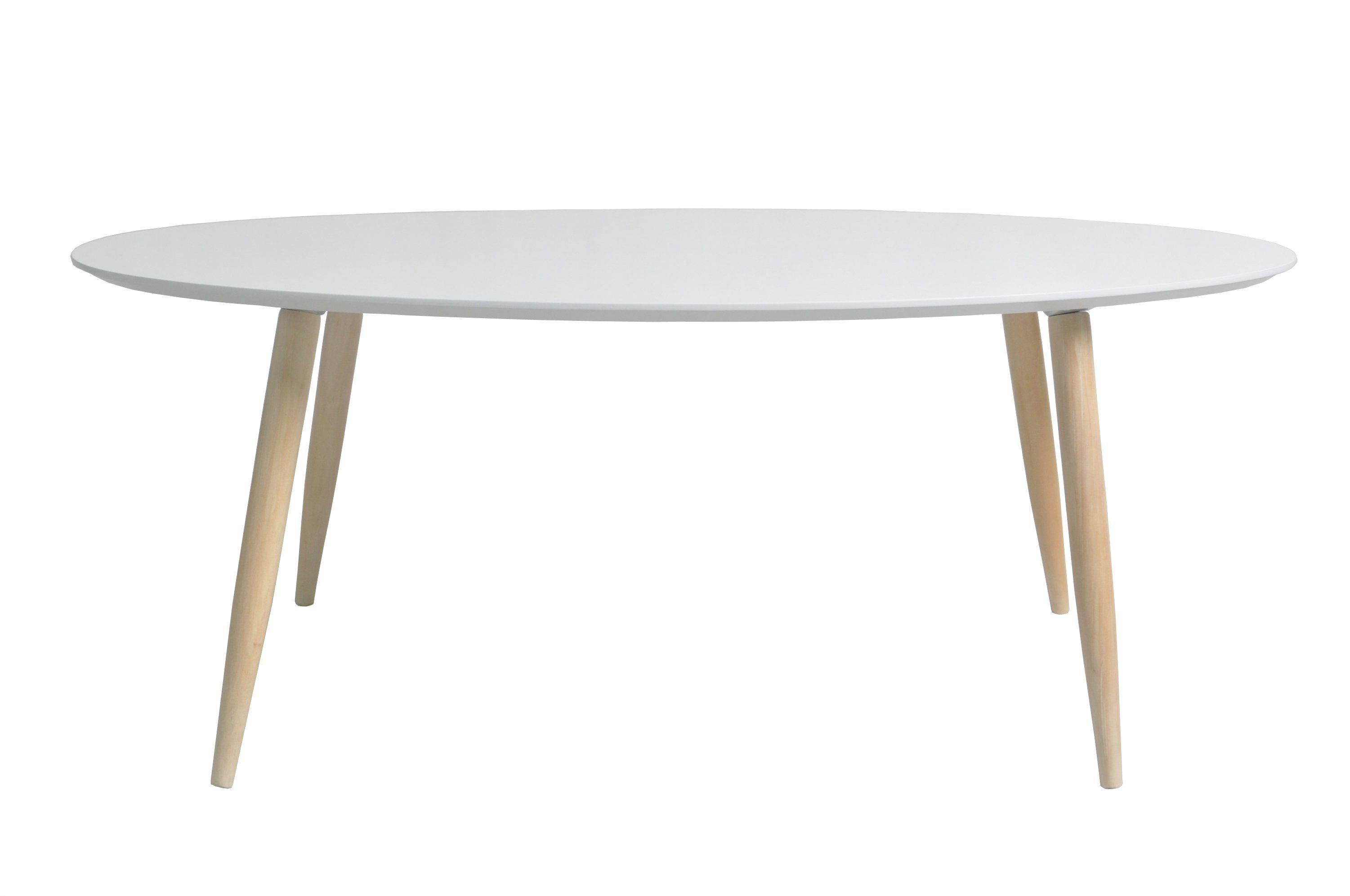 Table basse ovale MANON Blanc